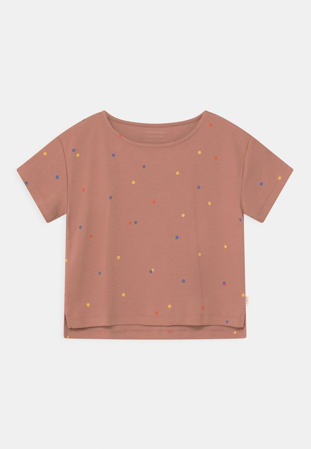 ICE CREAM DOTSCROP  - Print T-shirt - pink