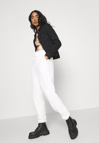 Topshop - TOWELLING - Tracksuit bottoms - white - 3