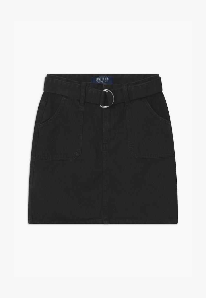 Blue Seven - TEENS BLACK - A-line skirt - schwarz
