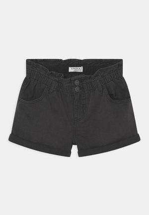 JONNA - Denim shorts - black
