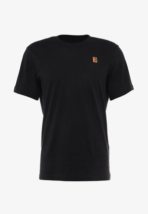 COURT TEE - Camiseta básica - black