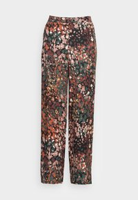 FLARED LEG - Trousers - dark khaki