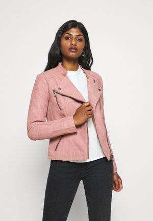 BIKER  - Faux leather jacket - ash rose