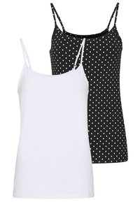 Anna Field - 2 PACK - Top - black/white - 0