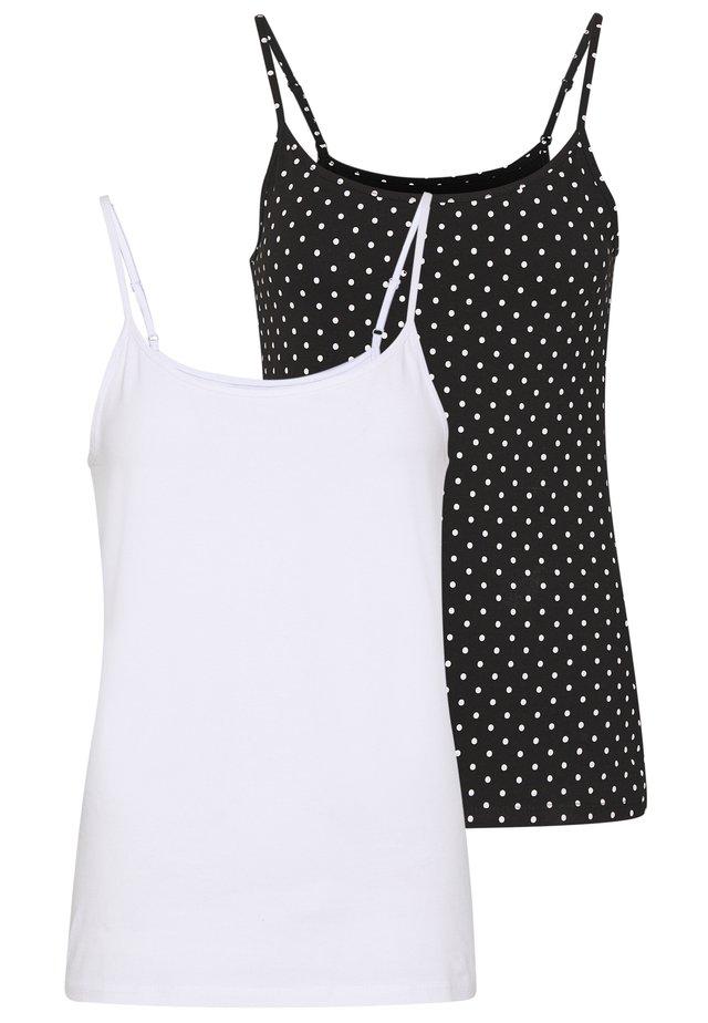 2 PACK - Débardeur - black/white