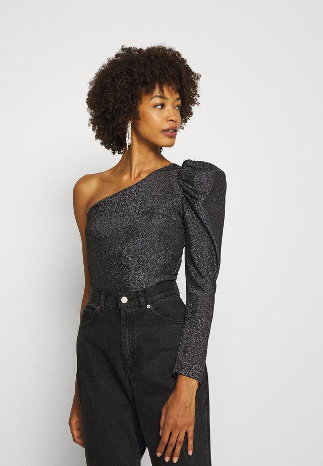 KASIA - T-shirt à manches longues - black/silver
