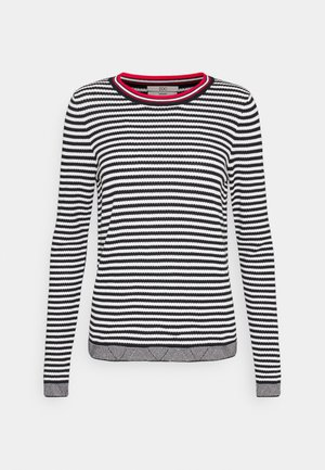 STRIPED - Jumper - black