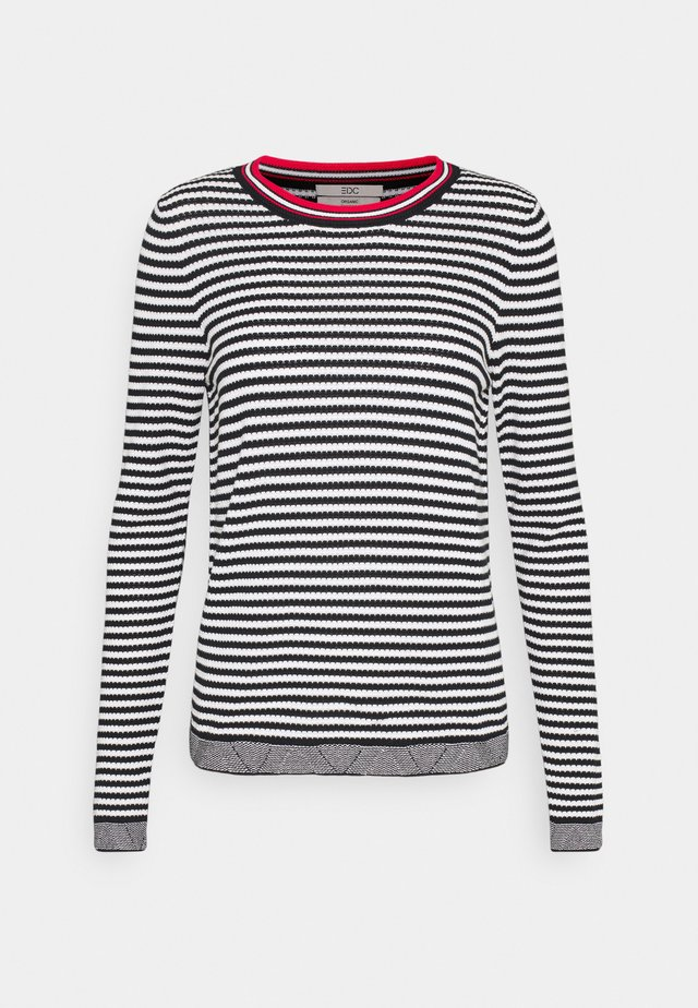 STRIPED - Jersey de punto - black