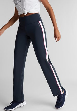 E-DRY - Tracksuit bottoms - navy