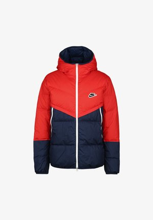 SHIELD  - Down jacket - chile red / midnight navy / black