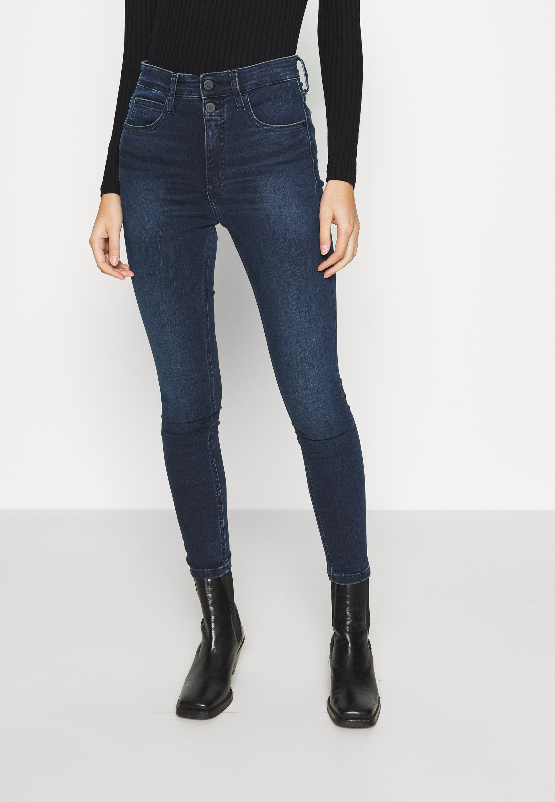 Women HIGH RISE SUPER SKINNY ANKLE - Jeans Skinny Fit