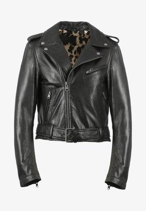 RADIO - Leather jacket - black