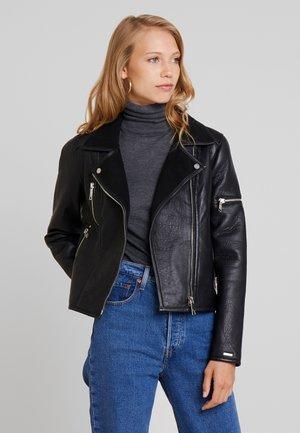 SONARA - Leather jacket - black
