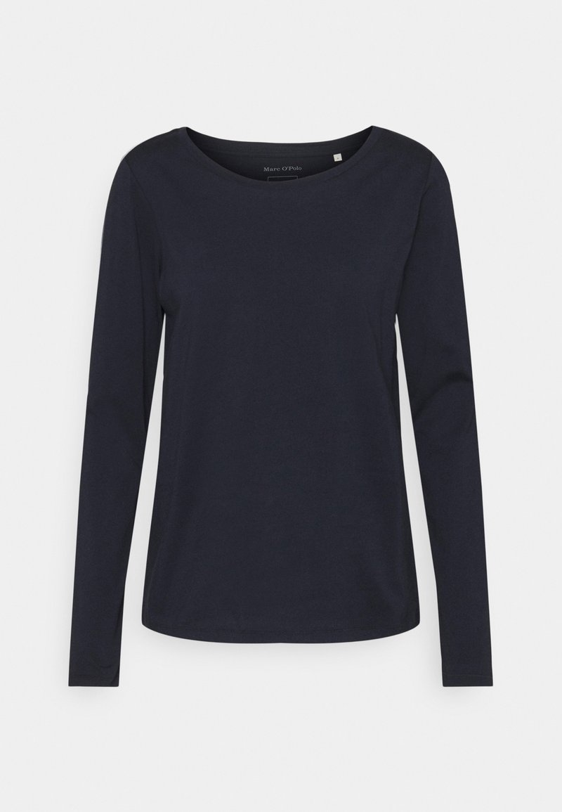 Marc O'Polo - LONG SLEEVE ROUND NECK - Long sleeved top - dark blue