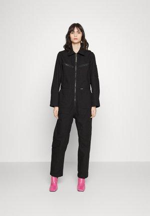 MULTI ZIP WINTER - Jumpsuit - dark black