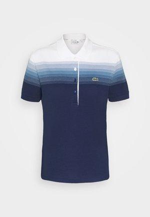 Polo shirt - turquin blue/white