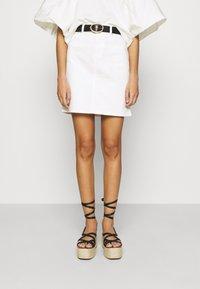 Selected Femme - SLFKENNA SKIRT - Mini skirt - white denim - 0