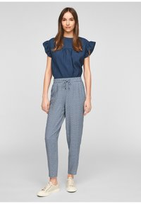 s.Oliver - BROEKEN - Trousers - blue embroidery - 1