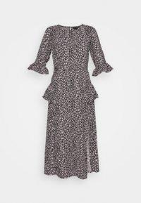 FRILL WRAP SKIRT MIDI DRESS - Day dress - black