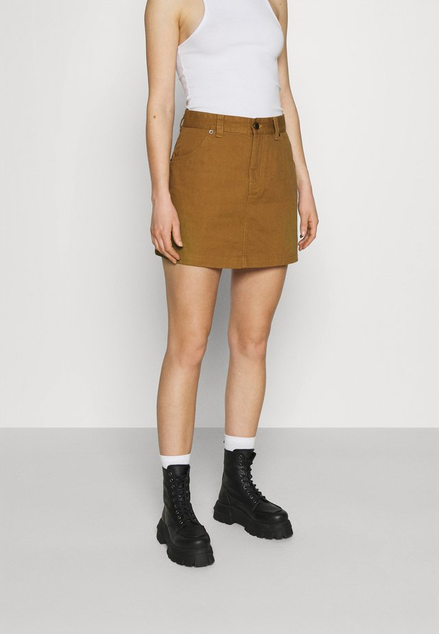 SHONGALOO - Mini skirt - brown duck