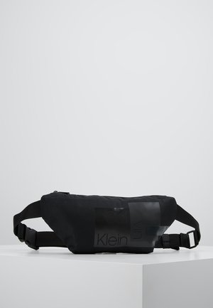 LAYERED WAISTBAG - Ledvinka - black