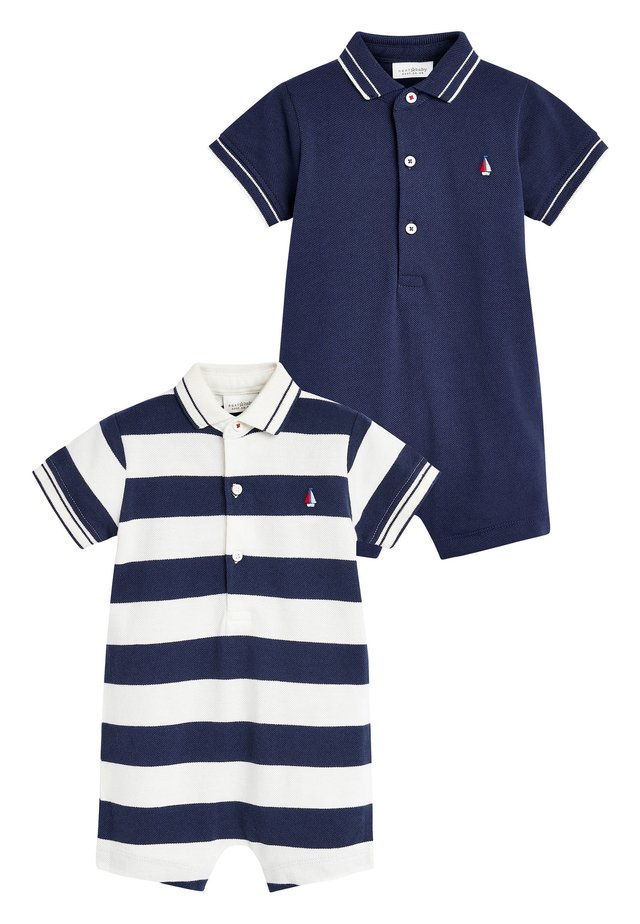 2 PACK STRIPE POLO ROMPERS - Combinaison - blue