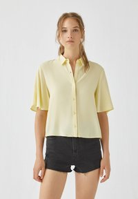 PULL&BEAR - Button-down blouse - yellow - 0