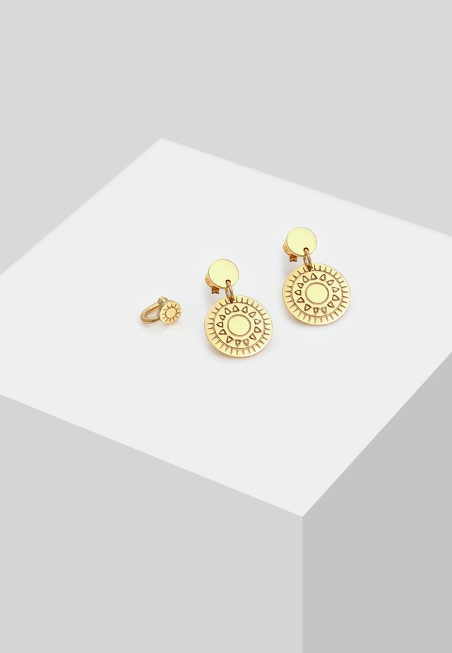SET ORNAMENT OHRHÄNGER EARCUFF  - Earrings - gold colored