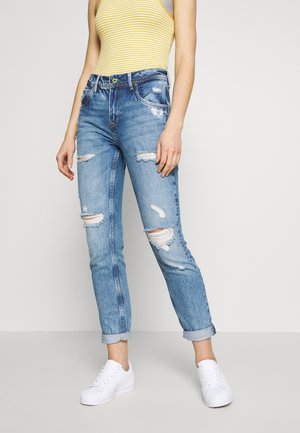 VIOLET - Relaxed fit jeans - destroyed denim