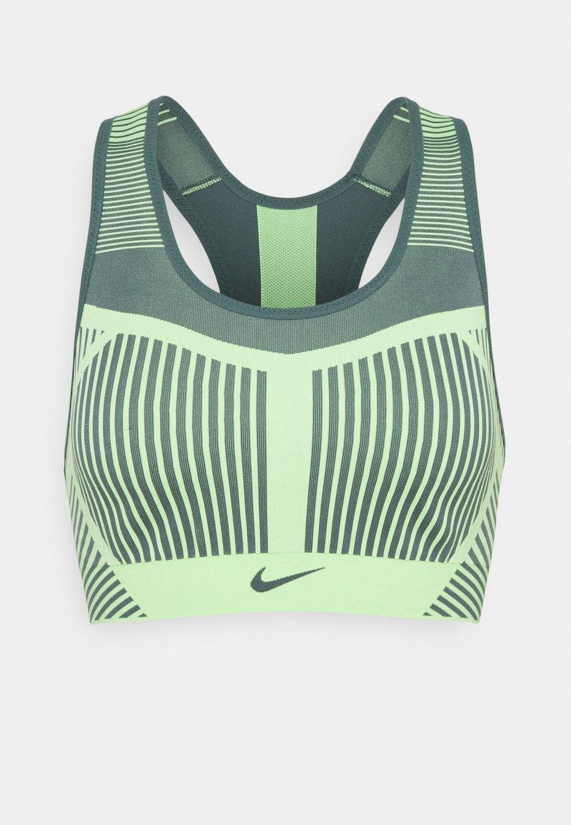 Nike Performance - FLYKNIT BRA - Reggiseno sportivo con sostegno elevato - lime glow/hasta