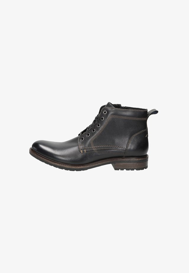 BAMA - Bottines à lacets - black