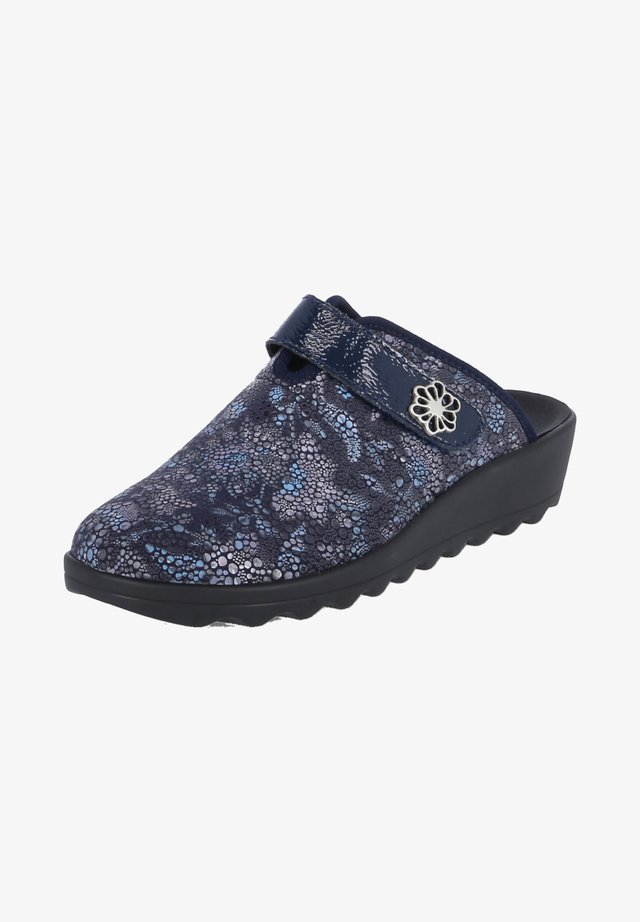 Clogs - blau - kombi