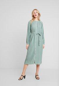 Love Copenhagen - INES PLEATED DRESS - Day dress - faded green - 1