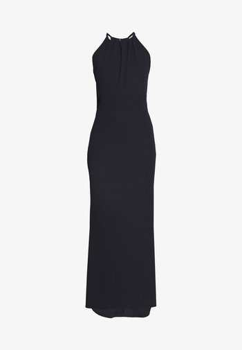 HIGH NECK MAXI WITH TRAIL