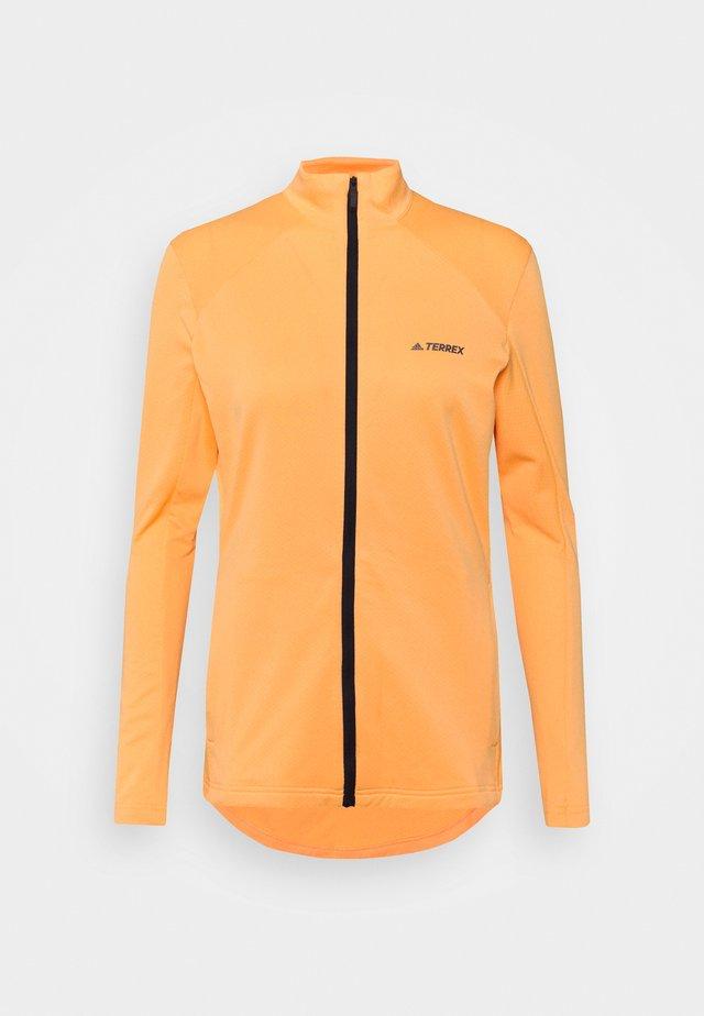 TERREX MULTI FULLZIP - Fleecová bunda - hazy orange
