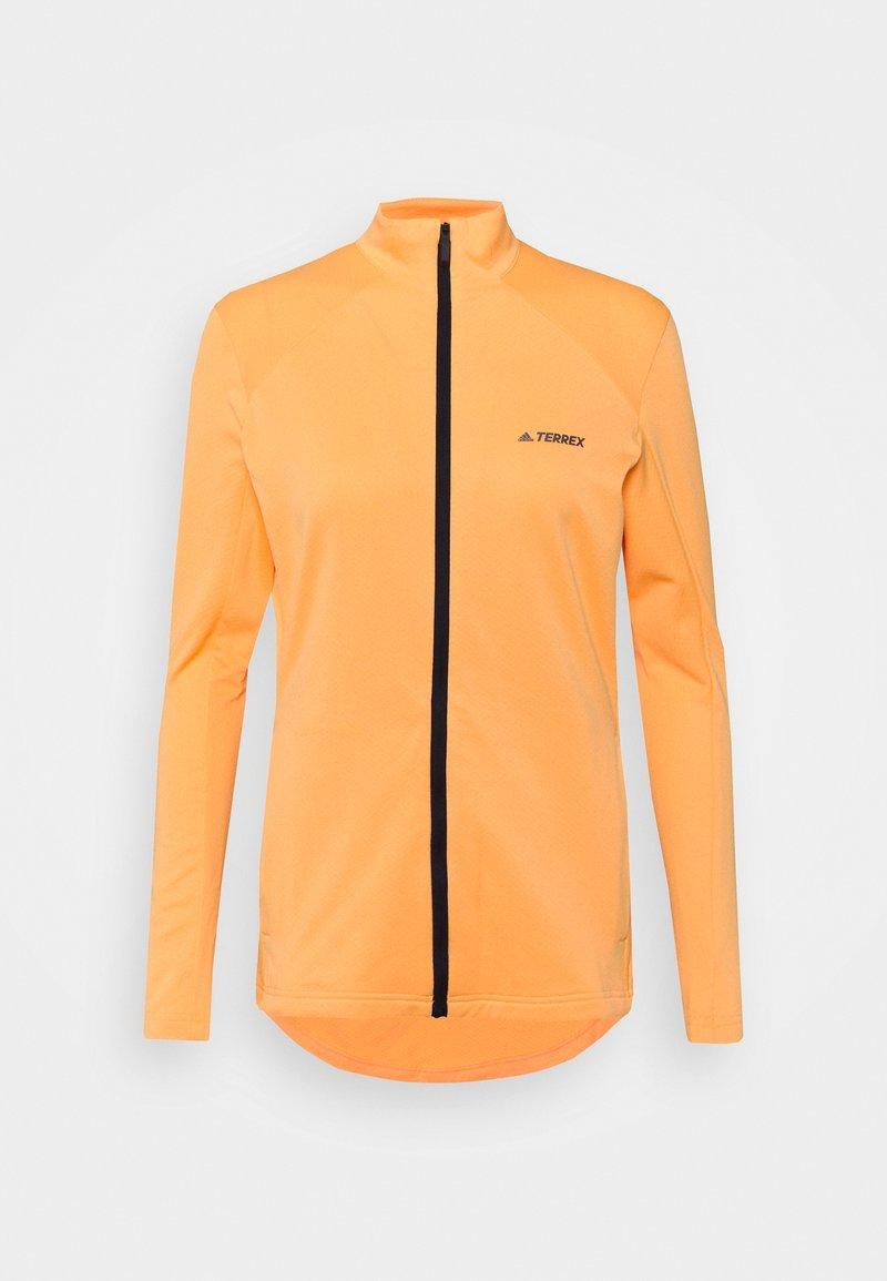 adidas Performance - MULTI FULL ZIP - Fleecejakker - hazy orange