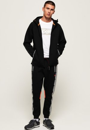 CORE GYM TECH - Zip-up hoodie - black
