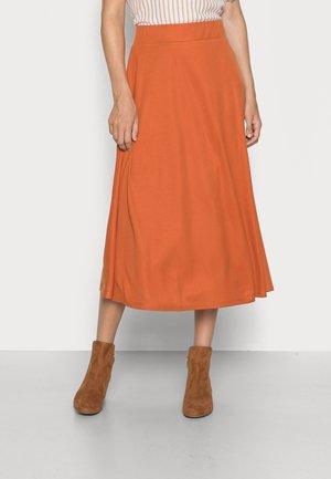 GATHERED SKIRT - A-line skirt - terracotta