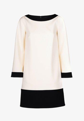 GERONIMO - Jersey dress - panna/nero