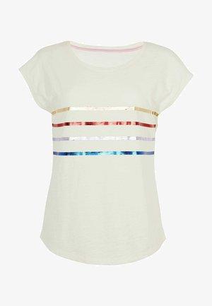 ROBYN  - Print T-shirt - regenbogen-folienstreifen