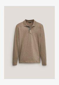 Massimo Dutti - MIT STRUKTURMUSTER  - Polo shirt - brown - 0