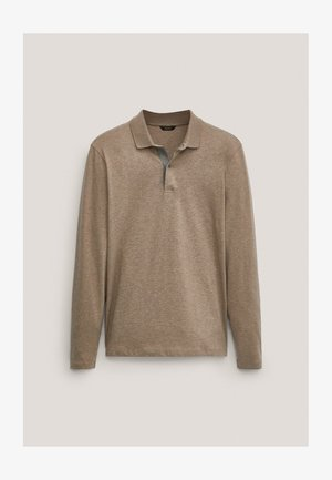 MIT STRUKTURMUSTER  - Polo shirt - brown