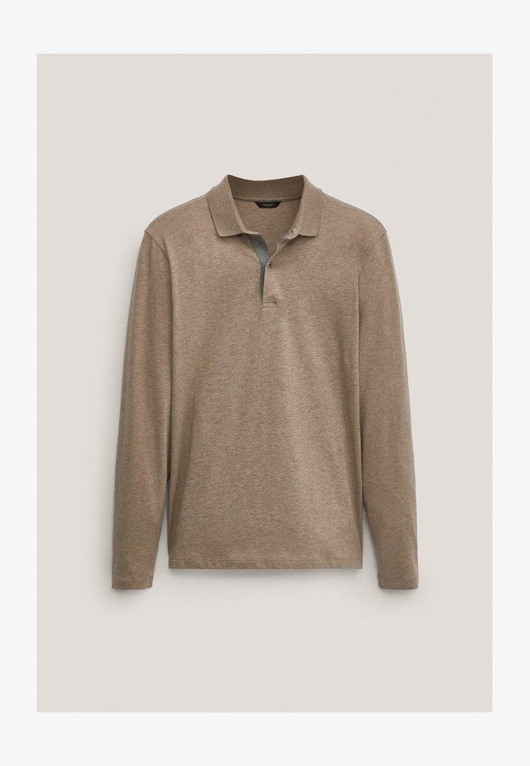 Massimo Dutti - MIT STRUKTURMUSTER  - Polo shirt - brown