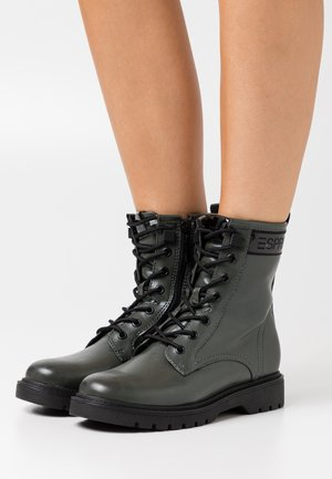 PARIS BOOTIE - Lace-up ankle boots - dark green
