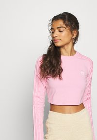 adidas Originals - CROP - Long sleeved top - lightpink - 3