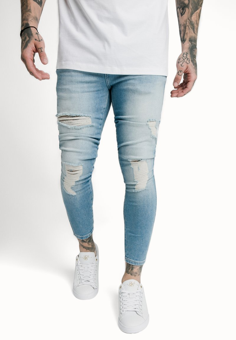 SIKSILK - DISTRESSED SUPER  - Skinny džíny - light-blue denim