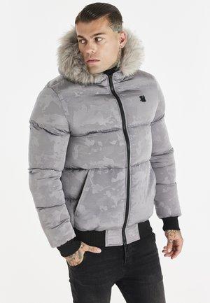 SIKSILK RIPSTOP DISTANCE CAMO JACKET - Winter jacket - grey