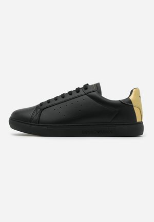 Sneakers laag - black/old gold