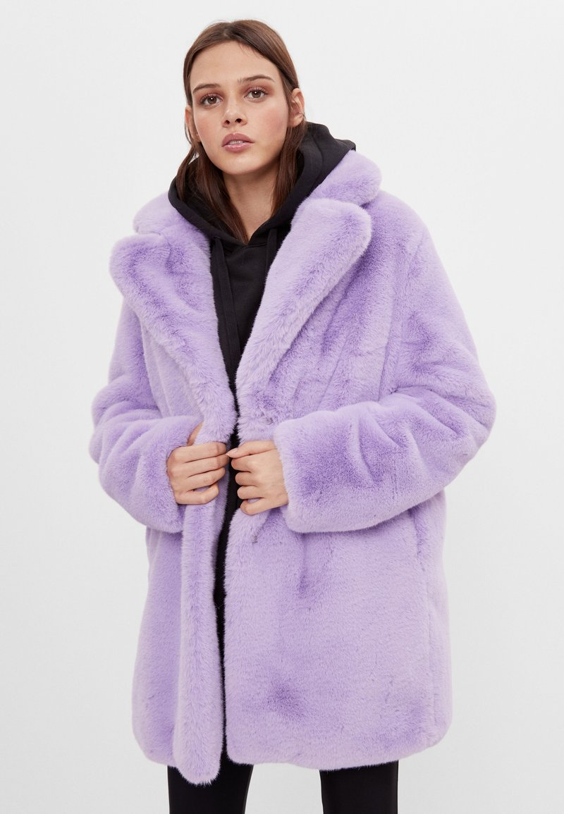 Bershka - Classic coat - mauve