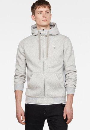 PREMIUM CORE ZIP - Zip-up hoodie - lt grey htr